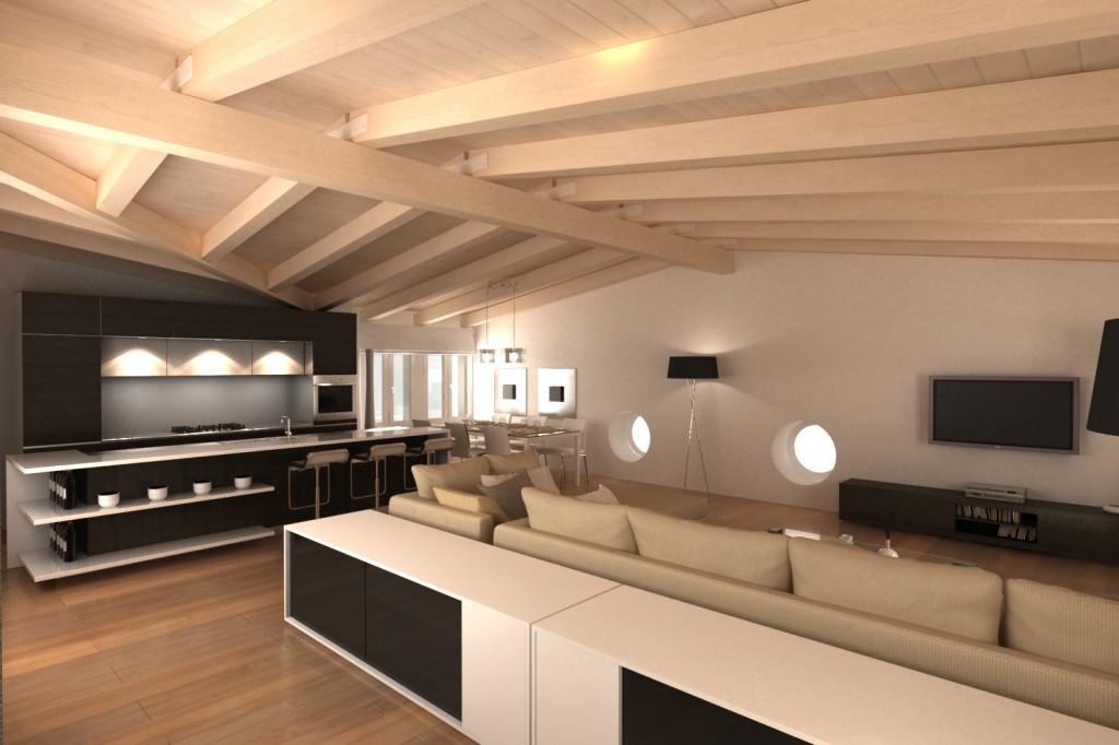 Milano abitazione privata 2011 for Costo delle travi a vista